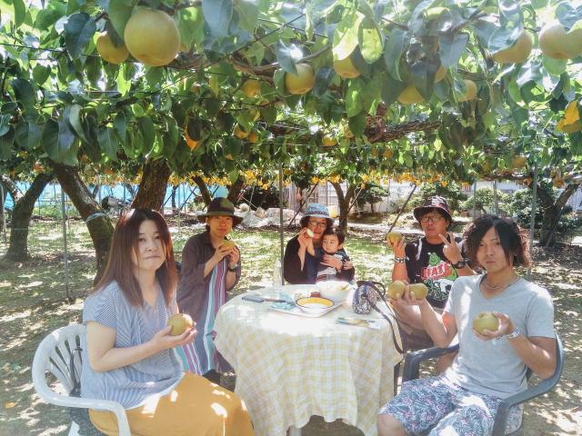 埼玉県からの梨狩りのお客様